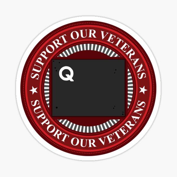 Support Our Veterans: Quantrill Design 3 Sticker