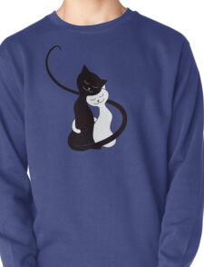 Blue White And Black Cats In Love T-Shirt