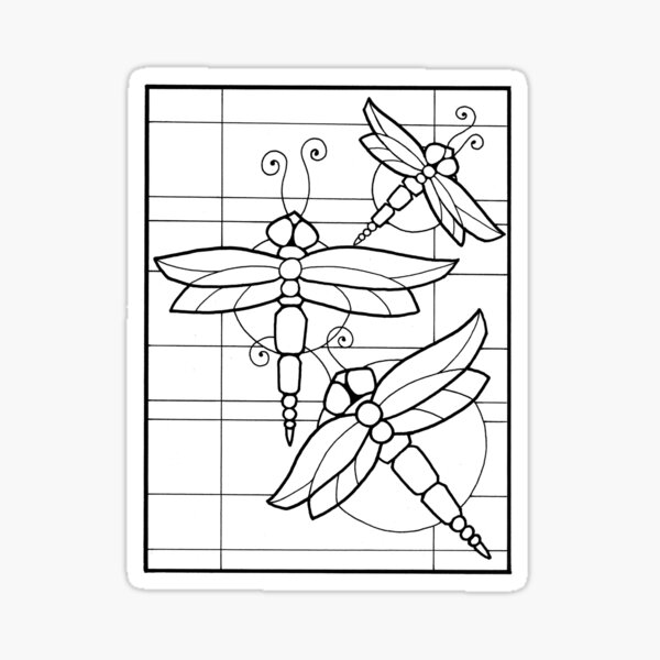 color your Dragonfly2 Sticker