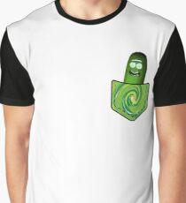 Pickle Rick In My Pocket - Rick & Morty Graphic T-Shirt