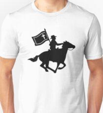 Cavalryman with Missouri Battle Flag T-Shirt
