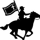 Cavalryman with Missouri Battle Flag by keytesvillemerc