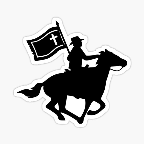 Cavalryman with Missouri Battle Flag Sticker