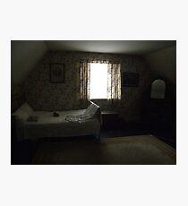 Dark cottage bedroom Photographic Print