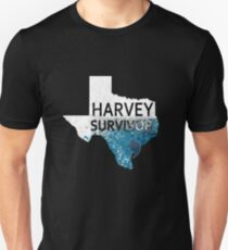 Harvey Survivor. Texas Houston Flooding Hurricane. Unisex T-Shirt