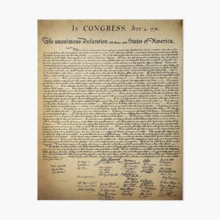 Vintage Declaration of Independence Art Board Print