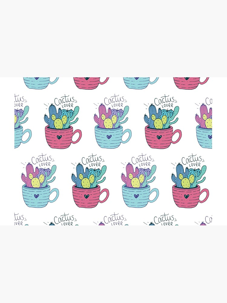 Colorful Cactus Pattern by mirunasfia