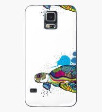 Schildkröte bunt Hülle & Klebefolie für Samsung Galaxy