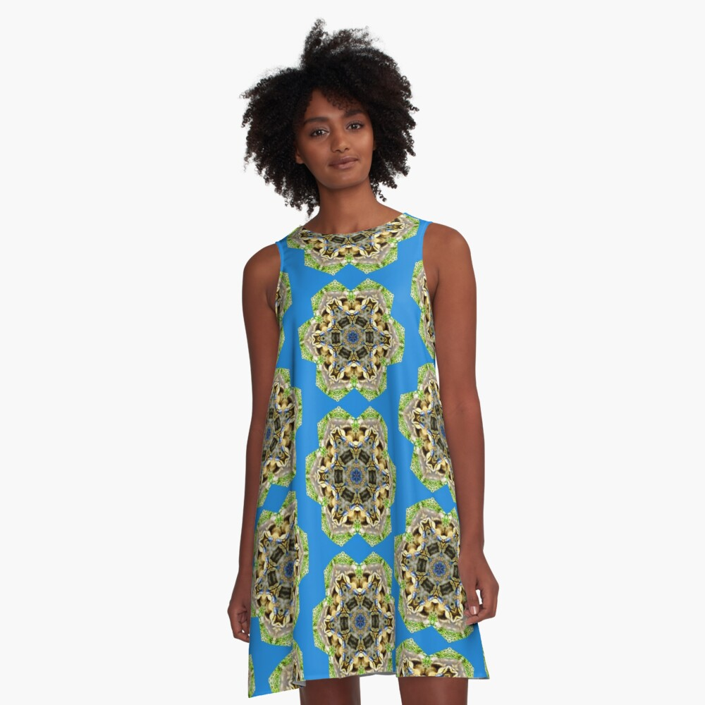duckling medallion pattern A-Line Dress Front