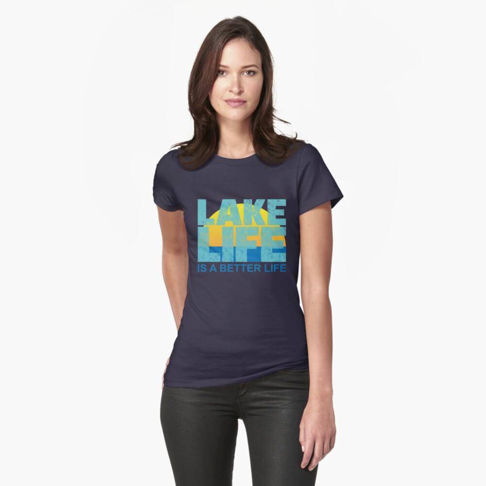 Loving The Lake Life Sunset Vintage T-Shirt