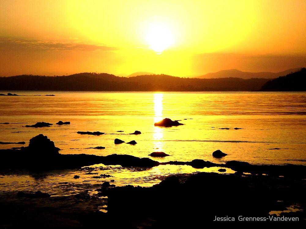 Sunset In Batemans Bay. by Jessica  Grenness-Vandeven