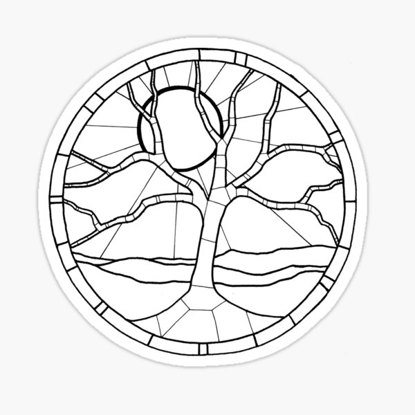 Color your Moon Tree Sticker