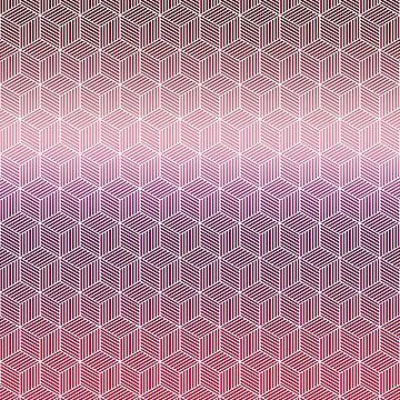 Geometric Cubes Warm fade by NomadicMarket