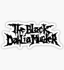 Band The Black Dahlia Murder Logo Black Sticker