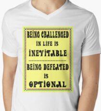 SAYINGS : Paths of Life Print Men's V-Neck T-Shirt