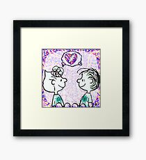 sally and linus Framed Print