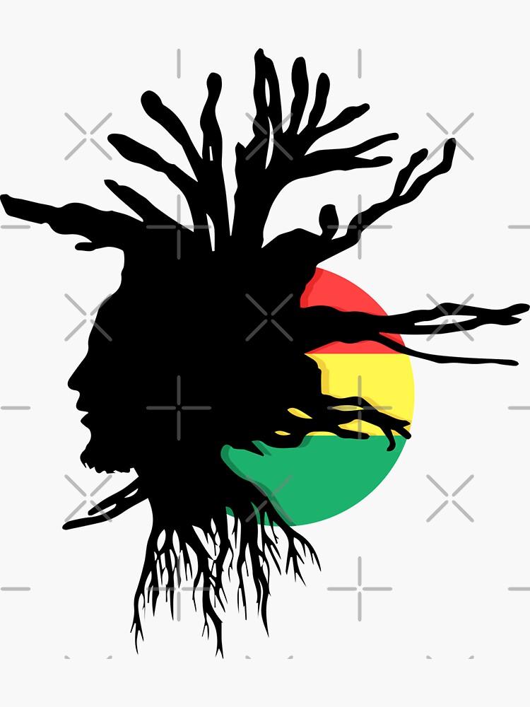 Rasta Dreads Ethiopian Flag Reggae Roots Rastafarian Jamaica by thespottydogg