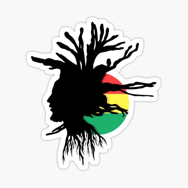 Rasta Dreads Ethiopian Flag Reggae Roots Rastafarian Jamaica Sticker