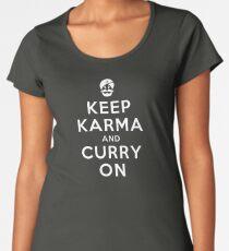 Keep Karma And Curry On [iPad / Phone cases / Prints / Clothing / Decor] Women's Premium T-Shirt