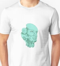 Humanoid Robot Head Female Monoline Unisex T-Shirt