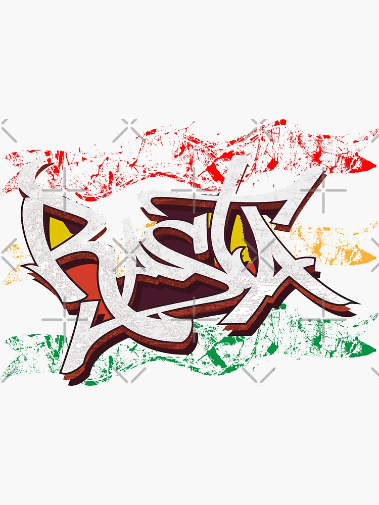 RASTA Rastafarian Jamaica Dreadlocks Roots Ethiopian Flag Graffiti by thespottydogg