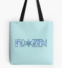 Frozen Snowflake Frost Tote Bag