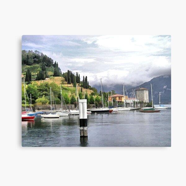 The Lake and Mainland painted Metal Print