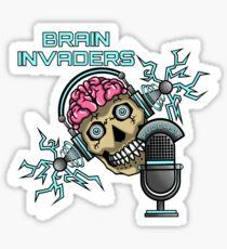 Brain Invaders Sticker