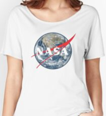 NASA View of Earth Women's Relaxed Fit T-Shirt