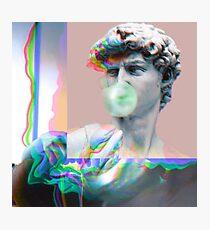 Vaporwave Glitch Aesthetics Photographic Print