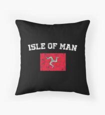 Manxman Flag Shirt - Vintage Isle of Man T-Shirt Throw Pillow