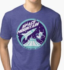 SPACE MOUNTAIN (blues) Tri-blend T-Shirt