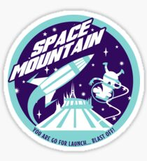 SPACE MOUNTAIN (blues) Sticker