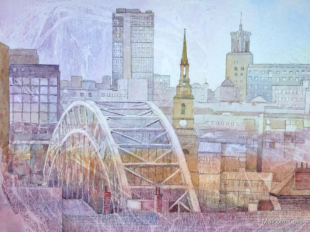 Newcastle upon Tyne Skyline by Malcolm Coils