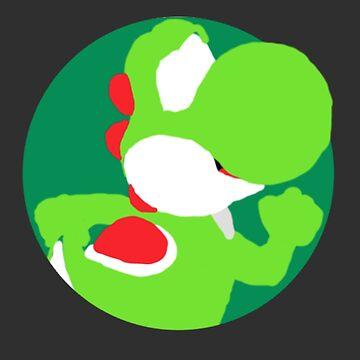 Minimalist Yoshi-Style Drawing by cephasgarrett