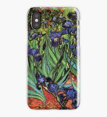 'Blue Irises' by Vincent Van Gogh (Reproduction) iPhone Case/Skin