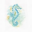 Aqua Sea Horse by dreampigment