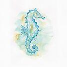 Aqua Sea Horse by dreampigment
