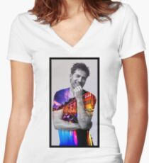 Nikolaj Coster-Waldau Women's Fitted V-Neck T-Shirt