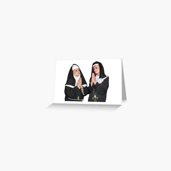 Saint Paris Hilton and Nicole Richie Greeting Card