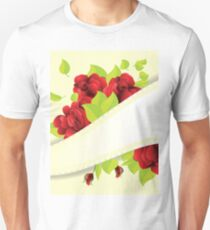 Red roses and ribbon Unisex T-Shirt