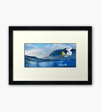 Surf Birder Framed Print