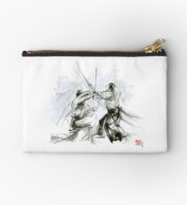 Mens gift ideas, aikido martial arts, ink drawing large poster Studio Pouch