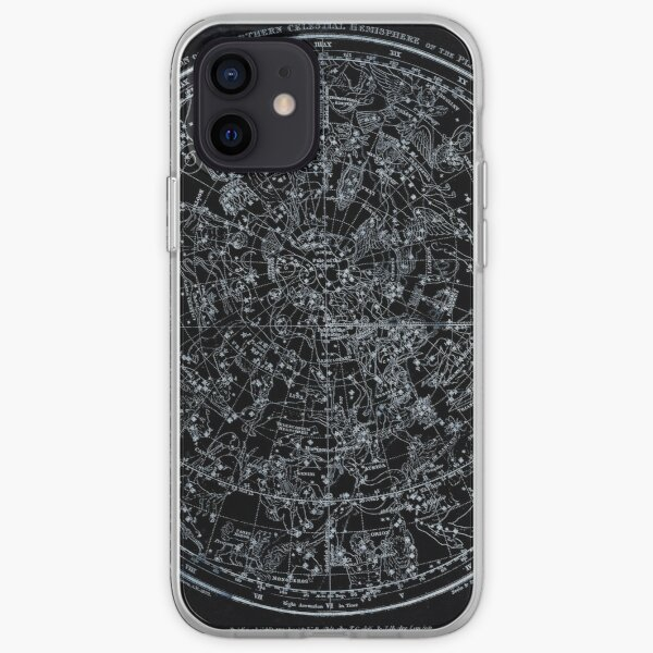 Constellations of the Northern Hemisphere | Pale Blue On Black iPhone Soft Case