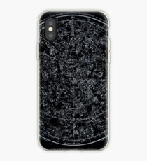 Constellations of the Northern Hemisphere | Pale Blue On Black iPhone Case