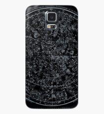 Sternbilder der nördlichen Hemisphäre | Hellblau auf Schwarz Hülle & Skin für Samsung Galaxy