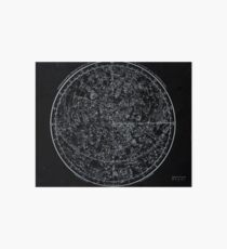 Constellations of the Northern Hemisphere | Pale Blue On Black Art Board