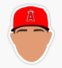mike trout outline Sticker