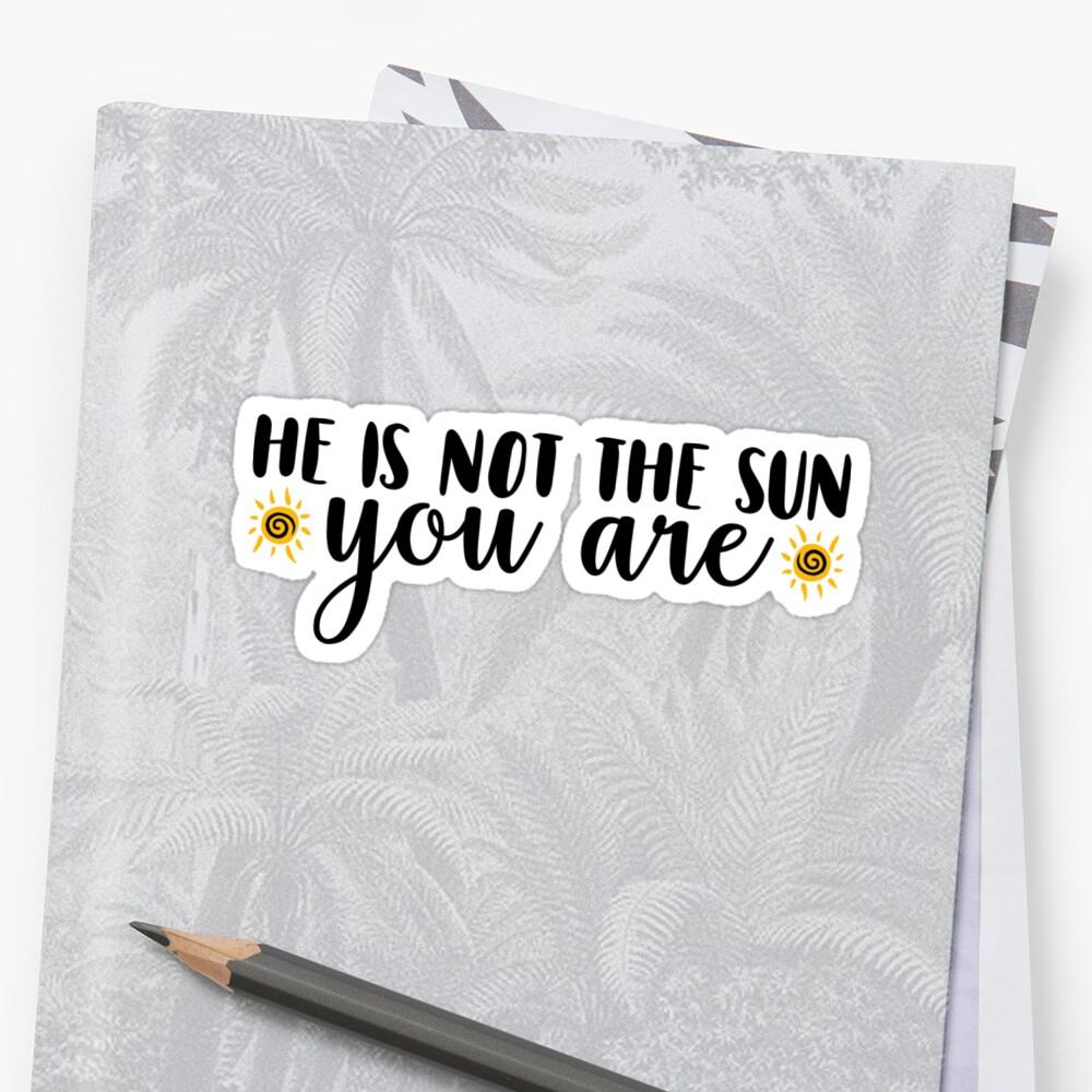 Él no es el sol Pegatina