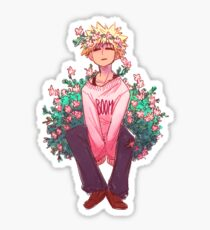Bakugou in Pink Sticker